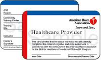 BLS Healthcare provider card